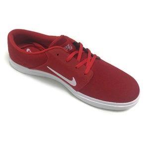 Nike Mens SB Portmore II Skate Shoe Red Size 10.5